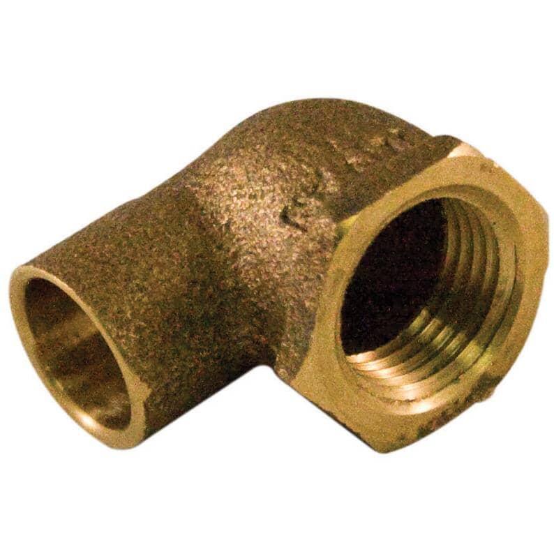 """AQUADYNAMIC:1/2"""" Copper x 3/4"""" Female Reducing Elbow"""