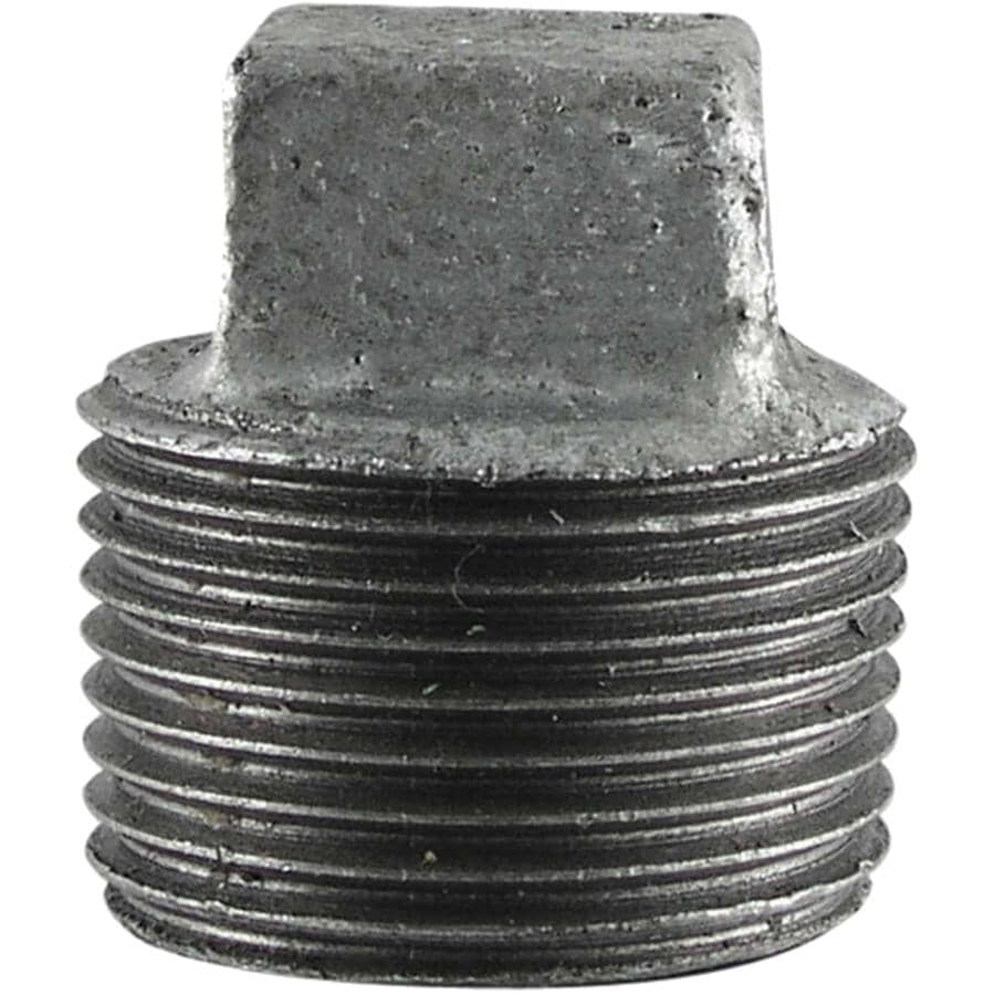"STZ INDUSTRIES:1"" Galvanized Cored Plug"