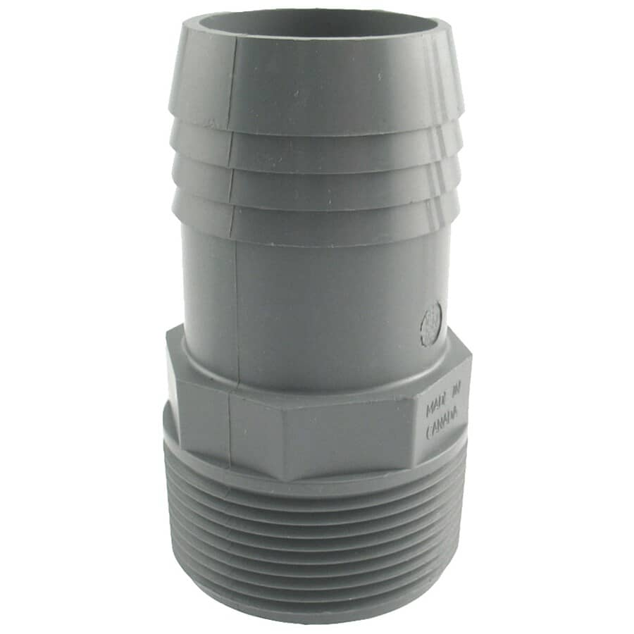"""PLUMB-EEZE:1-1/2"""" Insert x Male Pipe Thread Poly Adapter"""