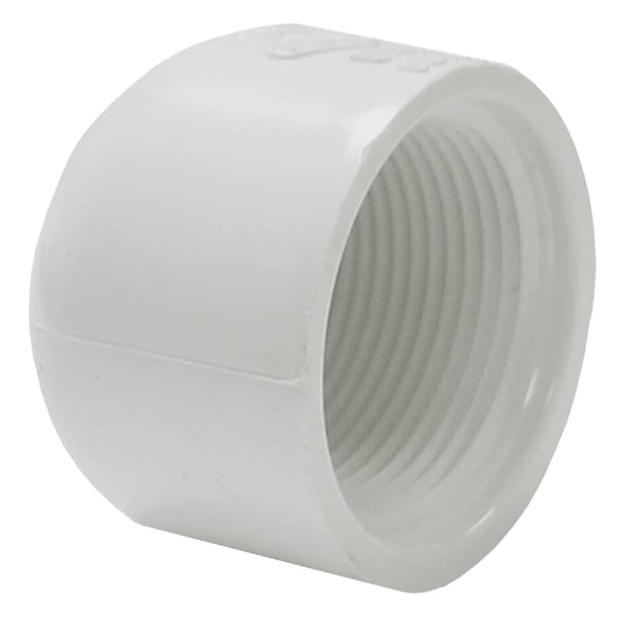 "PLUMB-EEZE:1-1/4"" Female Imperial Pipe PVC Cap"