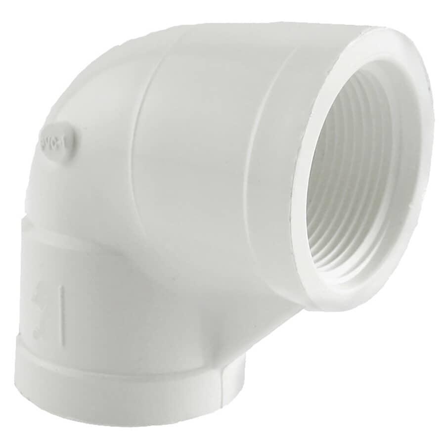 "PLUMB-EEZE:2"" Female Imperial Pipe PVC 90 Degree Elbow"