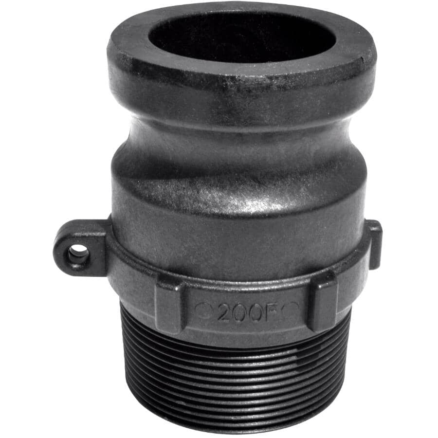 """GREENLEAF:2"""" Male Cam x Male Imperial Pipe Poly Coupling"""