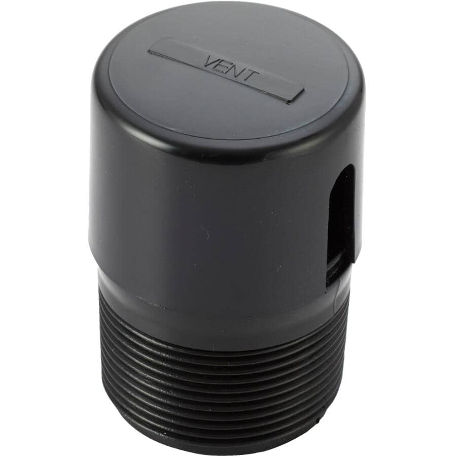 """HOME PLUMBER:1-1/2"""" Automatic Black Drain Vent"""