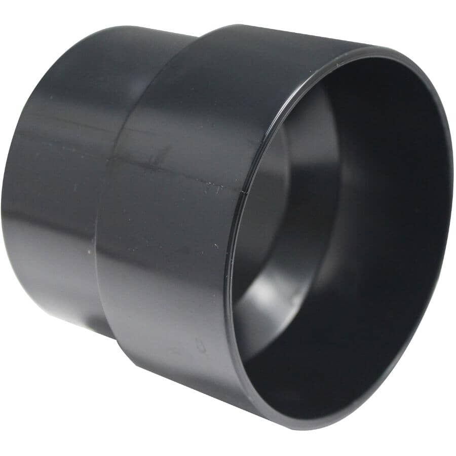 """CANPLAS:ABS Adapter for 4"""" Sewer & Drain to 3"""" DWV"""