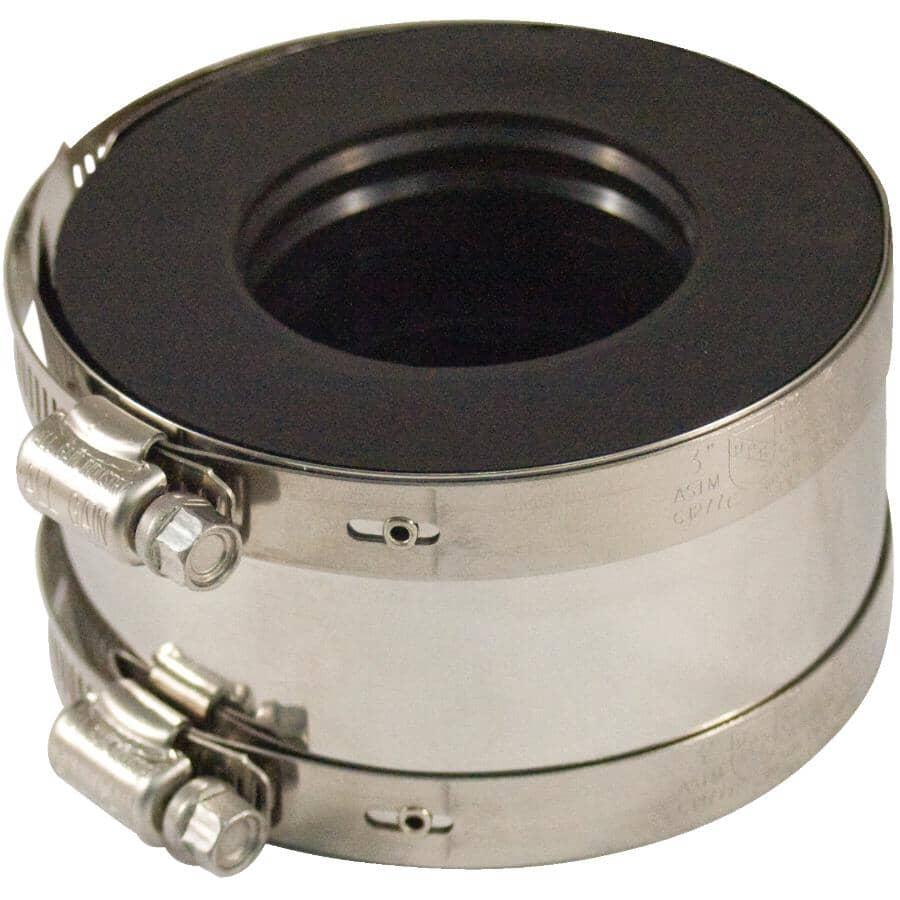 "AQUADYNAMIC:1-1/2"" Cast Iron/Plastic/Steel to Copper/Plastic/Steel Adjustable ABS Coupling"