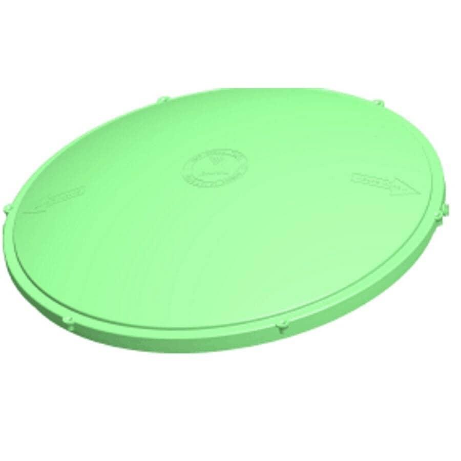 "TUF-TITE:24"" Round Green Septic Riser Lid"