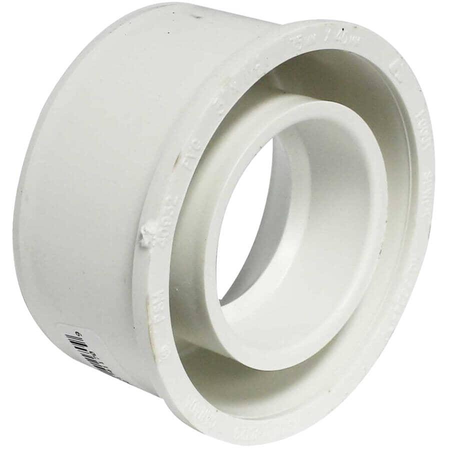 "CANPLAS:1-1/2"" ABS x 3"" PVC Sewer Bushing"