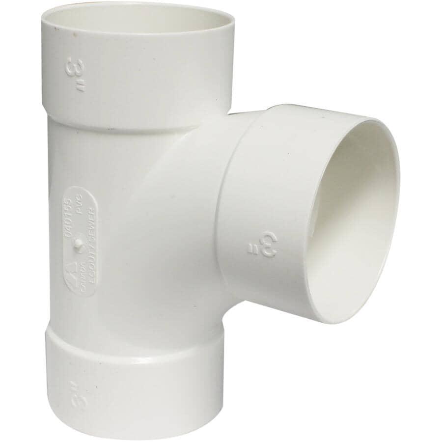 "CANPLAS:3"" Sewer Sanitary Tee"