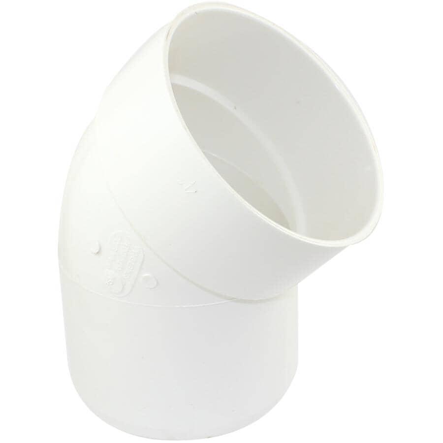 "CANPLAS:4"" Spigot x Hub 45 Degree PVC Street Sewer Elbow"