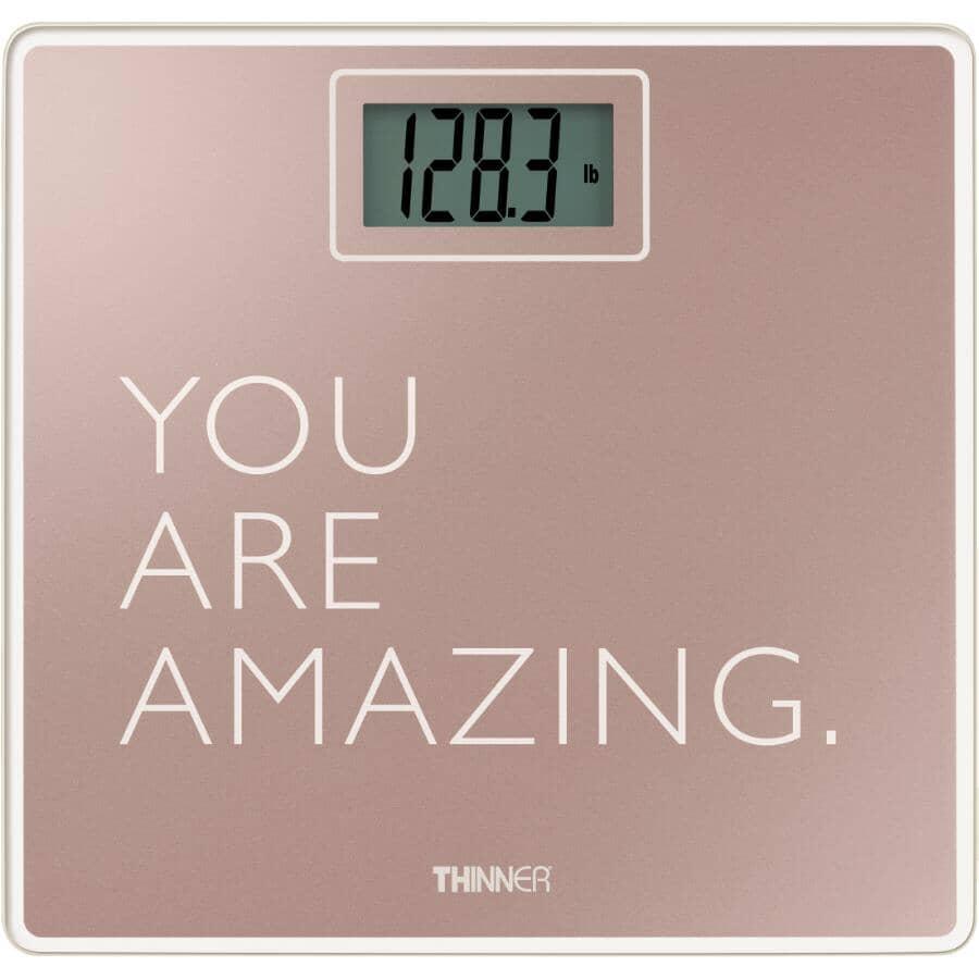 THINNER:Pèse-personne numérique en verre You Are Amazing