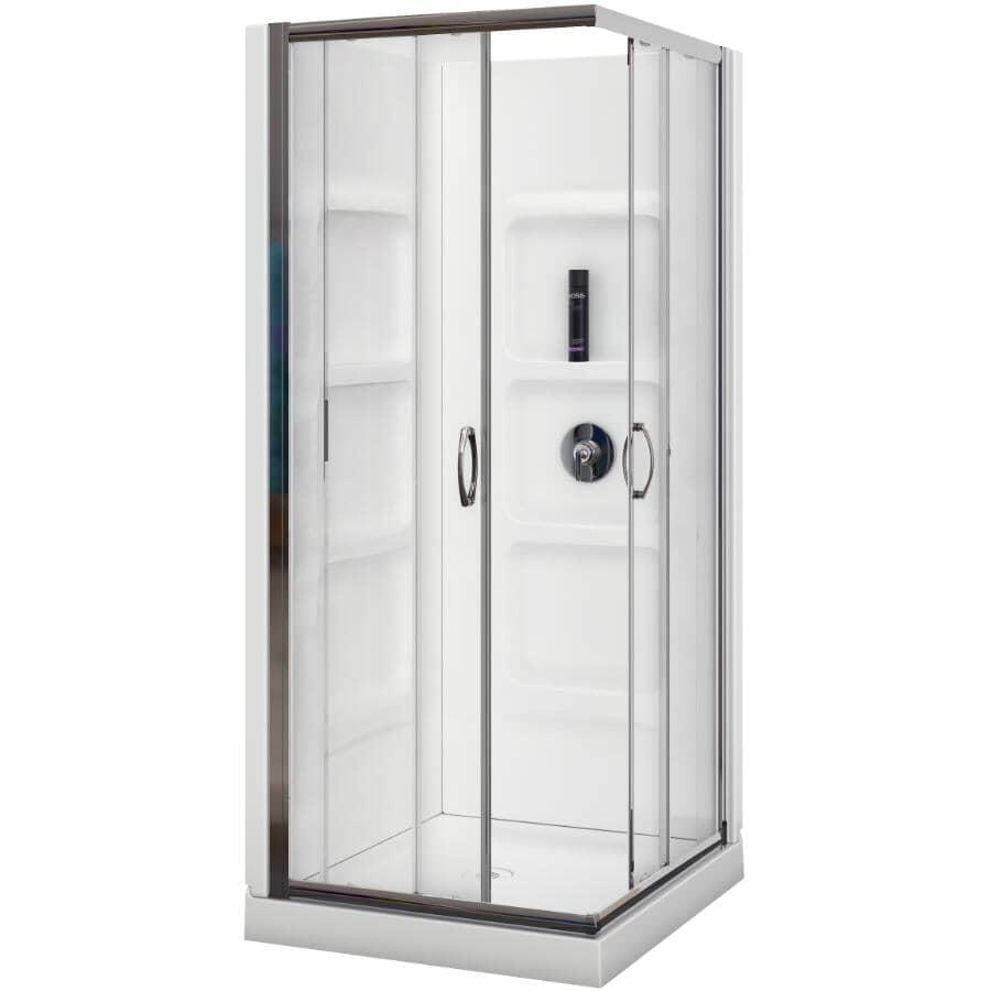 "A&E BATH AND SHOWER:32"" Robin Acrylic Corner Shower Cabinet - Chrome"