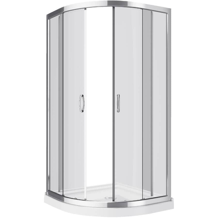 "A&E BATH AND SHOWER:38"" Arthur Acrylic Neo Round Corner Shower Cabinet - White"