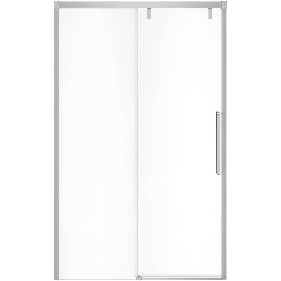 "MAAX:Uptown Slider Shower Door - with Clear Glass & Chrome Trim, 44""- 47"""