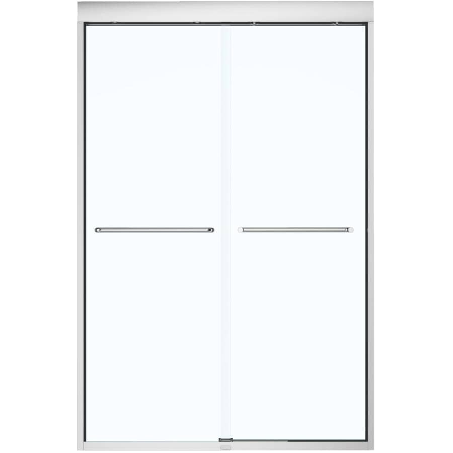 """MAAX:43""""- 47"""" x 71"""" Aura Soft Close Shower Door with Clear Glass and Chrome Trim"""