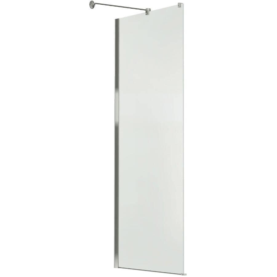 """MAAX:32"""" x 71 1/2"""" Clear Glass Side Panel with Chrome Trim for Reveal Shower Door"""