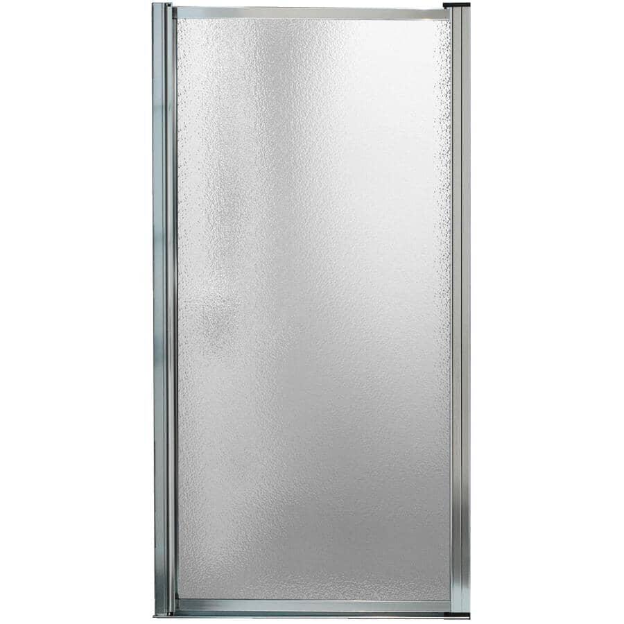"MAAX:Pivolok Framed Shower Door - with Raindrop Glass & Chrome Trim, 31""- 32.75"""