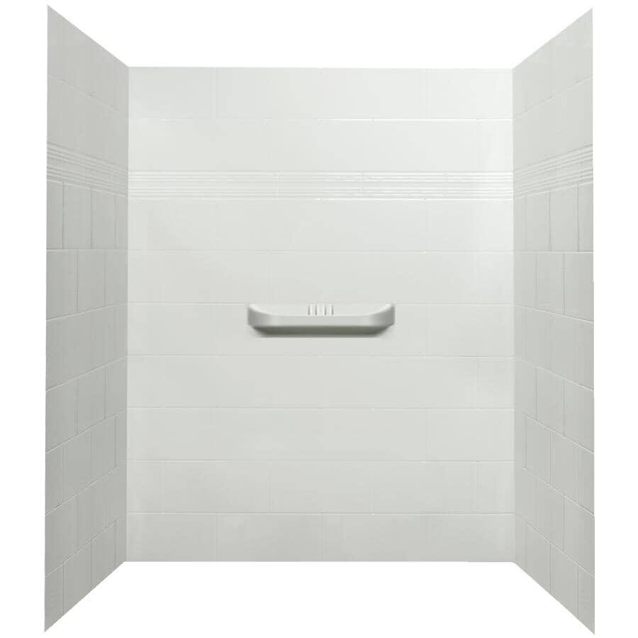 TECHNOFORM:Murs de douche en acrylique de 60 po Supreme 3 pièces, blanc