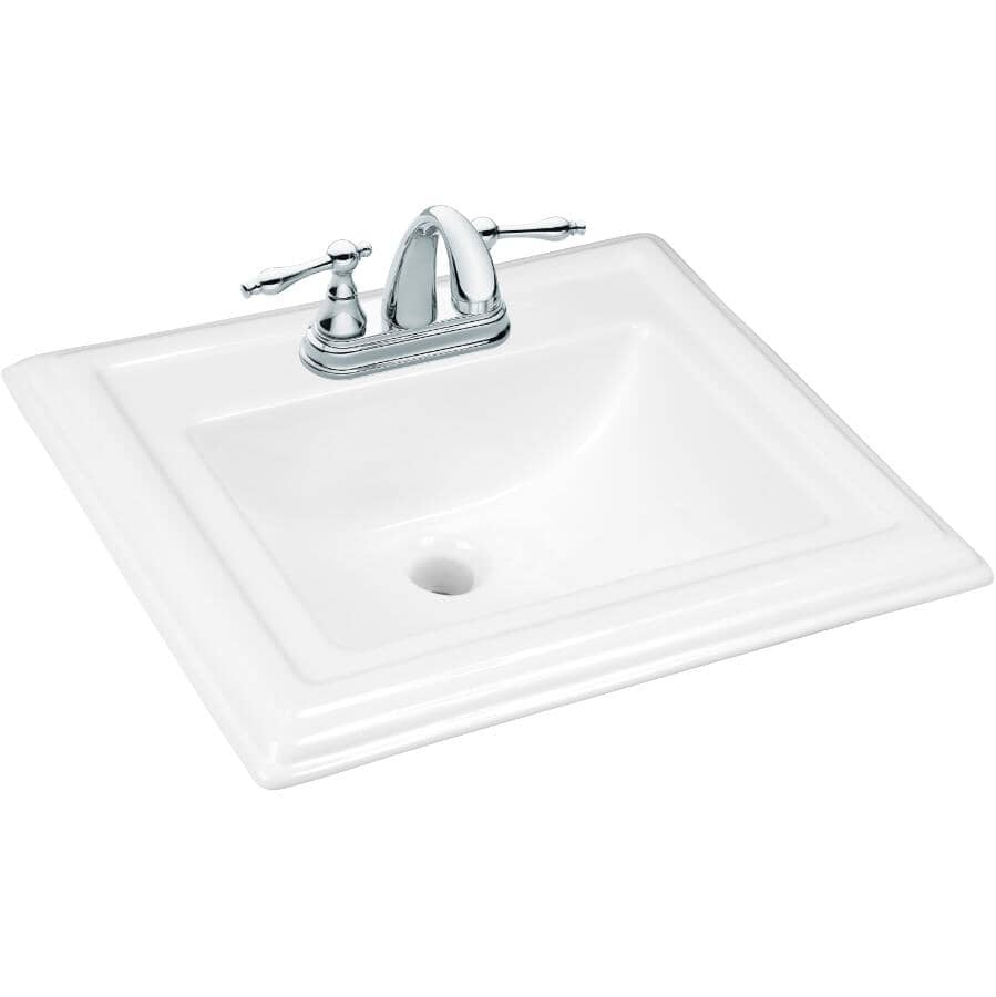 """FOREMOST:Dietrich Drop-In Rectangular Basin - White, 22"""" x 18.5"""""""