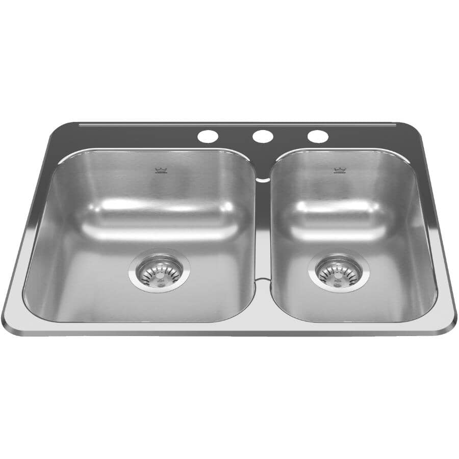 Kindred 20 9 16 X 27 1 4 X 7 3 Hole Kitchen Sink Home Hardware