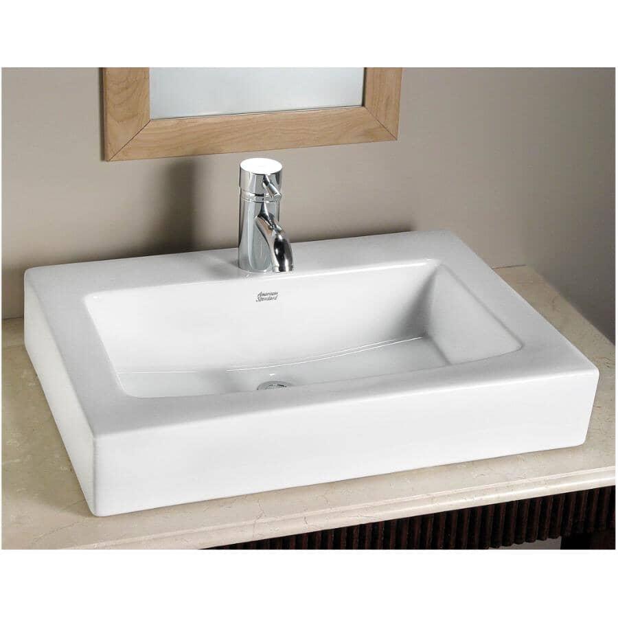"AMERICAN STANDARD:Above Counter Rectangular Boxe Basin - White, 23"" x 17.5"""