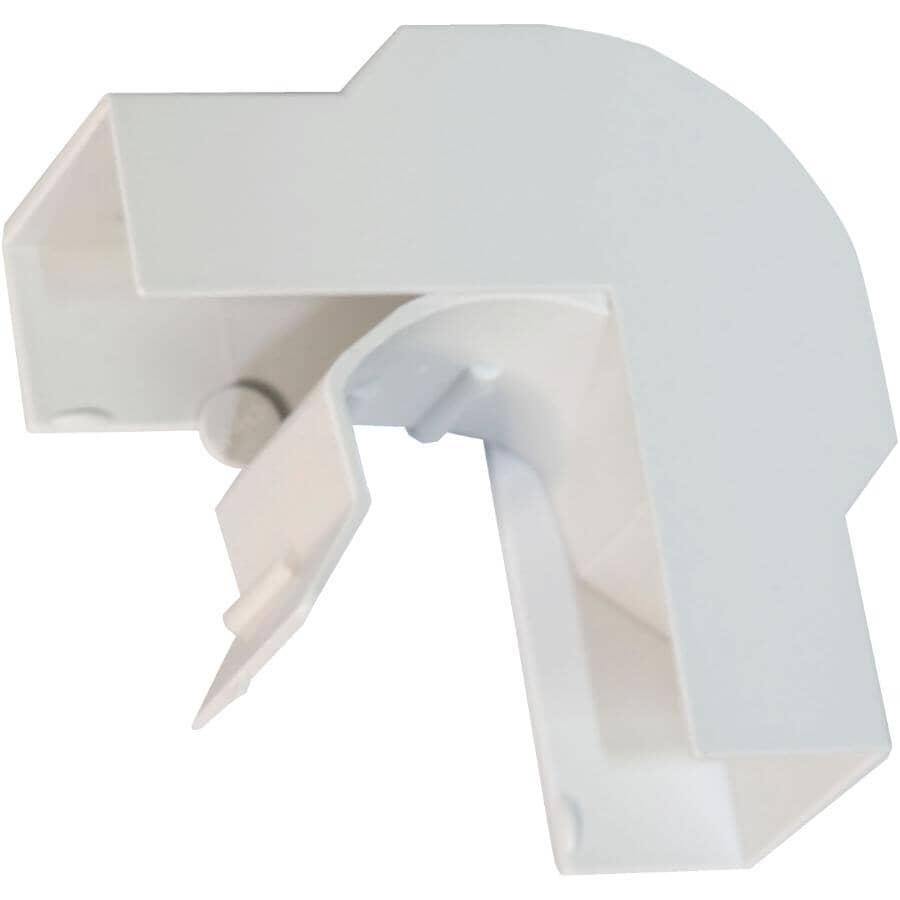 NORTH AMERICAN BRANDS:Small White Cord Conceal Outside Corner for Cat5e/6 Wire