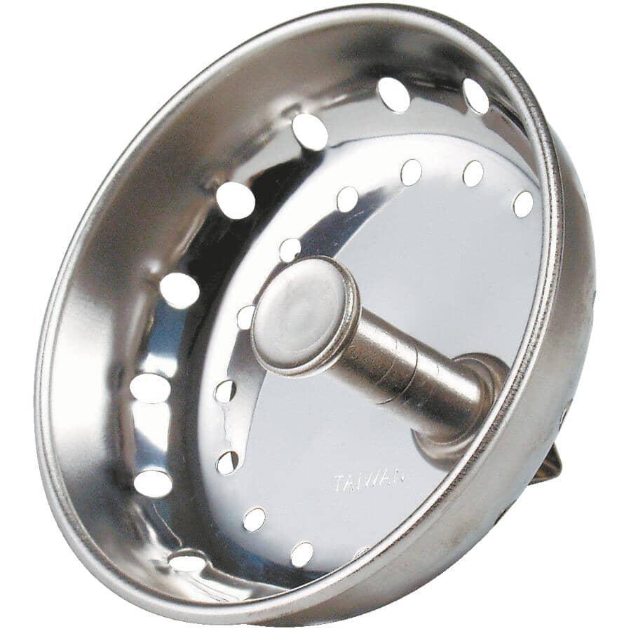 HOME PLUMBER:Stainless Steel Metal Pin Sink Strainer