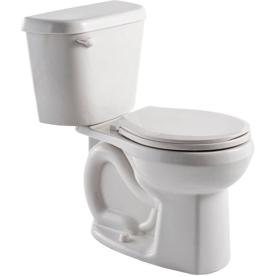 """AMERICAN STANDARD:4.8 L Sonoma Right Height Round Toilet - 16.5"""" Accessible Height, White"""