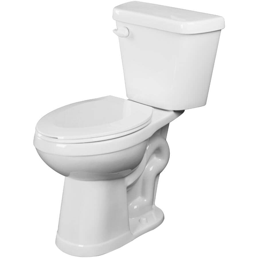 """CHELINI:4.8 L Cabot Elongated Toilet - 18"""" Accessible Height, White"""