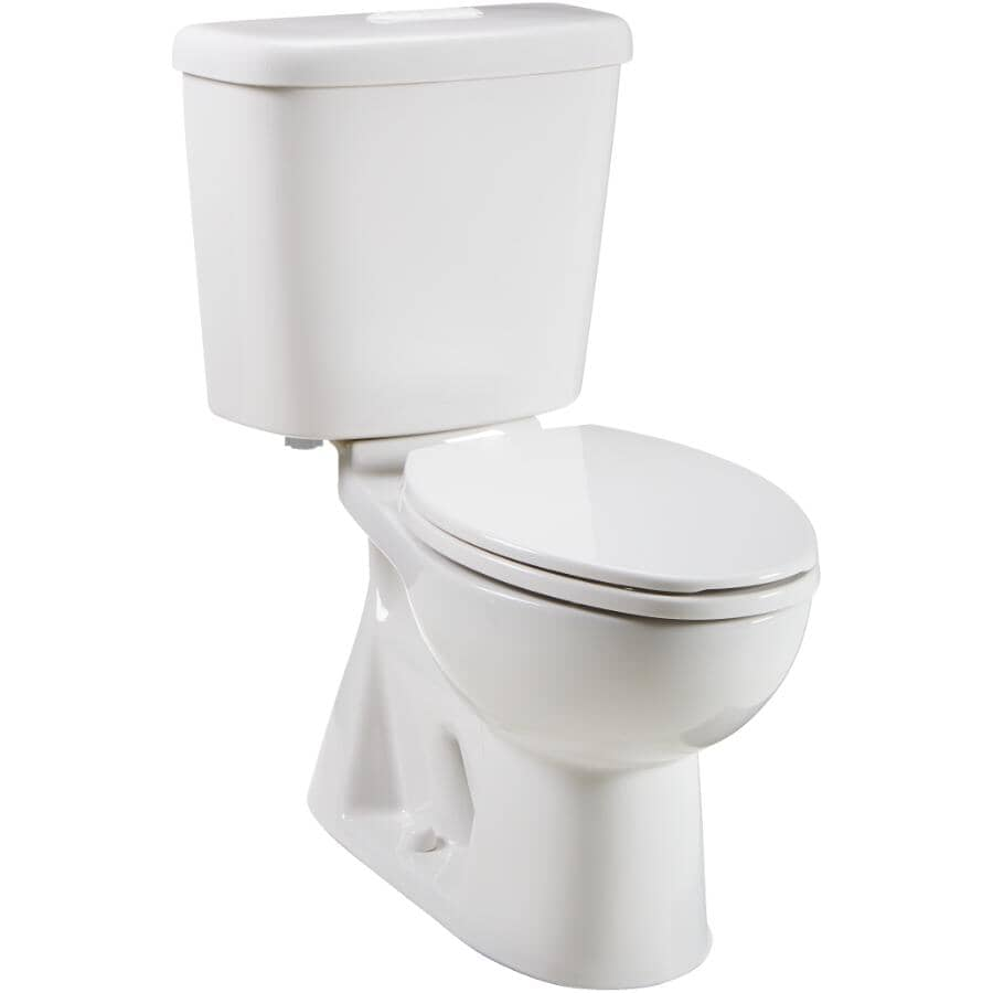 """CAROMA:3 L / 4.3 L Sydney Smart II Dual Flush Elongated Toilet - 16.5"""" Accessible Height, White"""