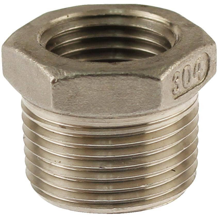 """PLUMB-EEZE:1/2"""" x 3/8"""" Stainless Steel Bushing"""