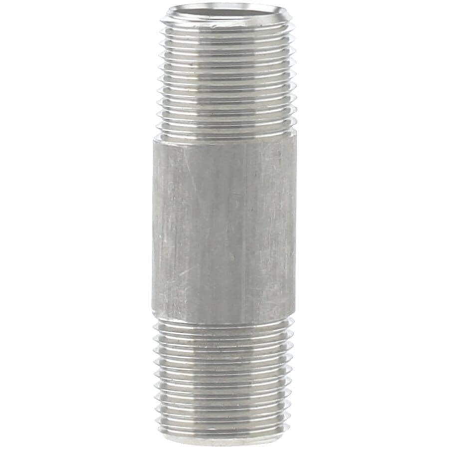 """PLUMB-EEZE:3/8"""" x 6"""" Stainless Steel Nipple"""