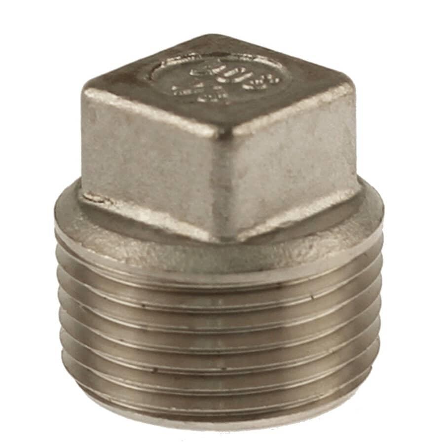 """PLUMB-EEZE:3/4"""" Stainless Steel Square Head Plug"""