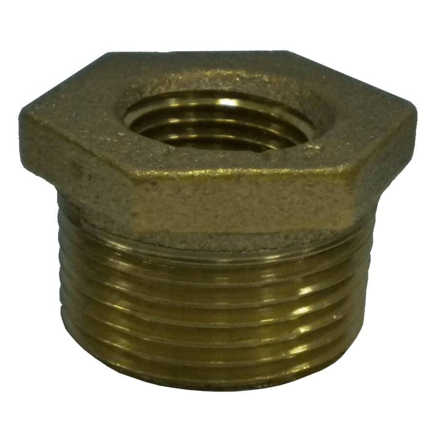 GENERIC:Manchon de réduction en bronze de 1/2 po x 1/4 po