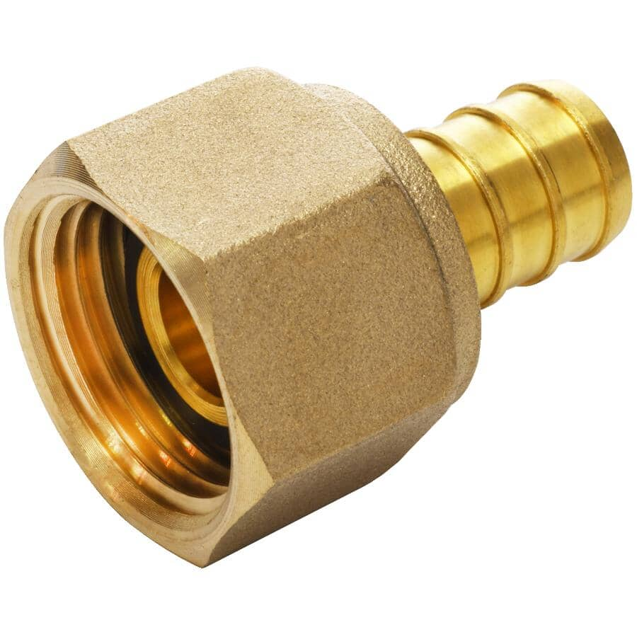"""WATERLINE PRODUCTS:3/4"""" PEX  x 3/4"""" FPT Swivel Brass Adapter"""