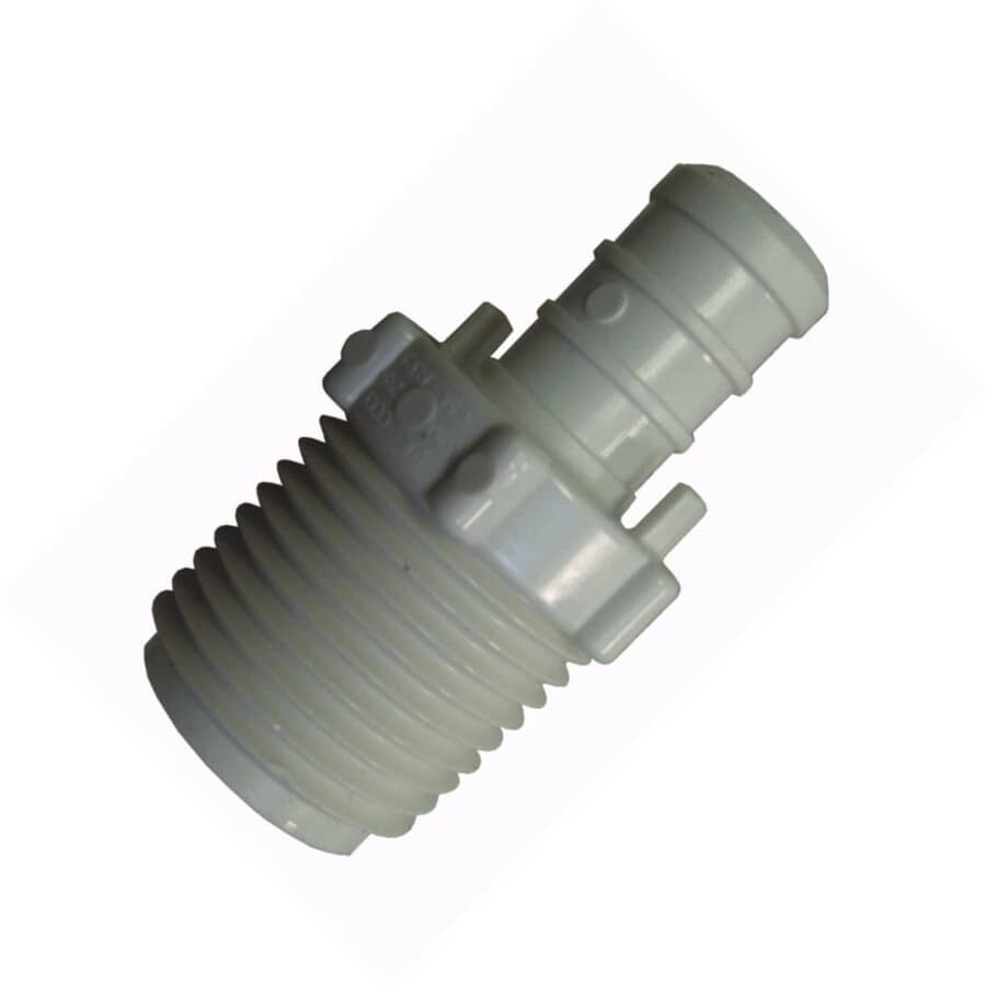 """ACCUCRIMP:1/2"""" PEX  x 1/2"""" MPT Poly Adapter"""