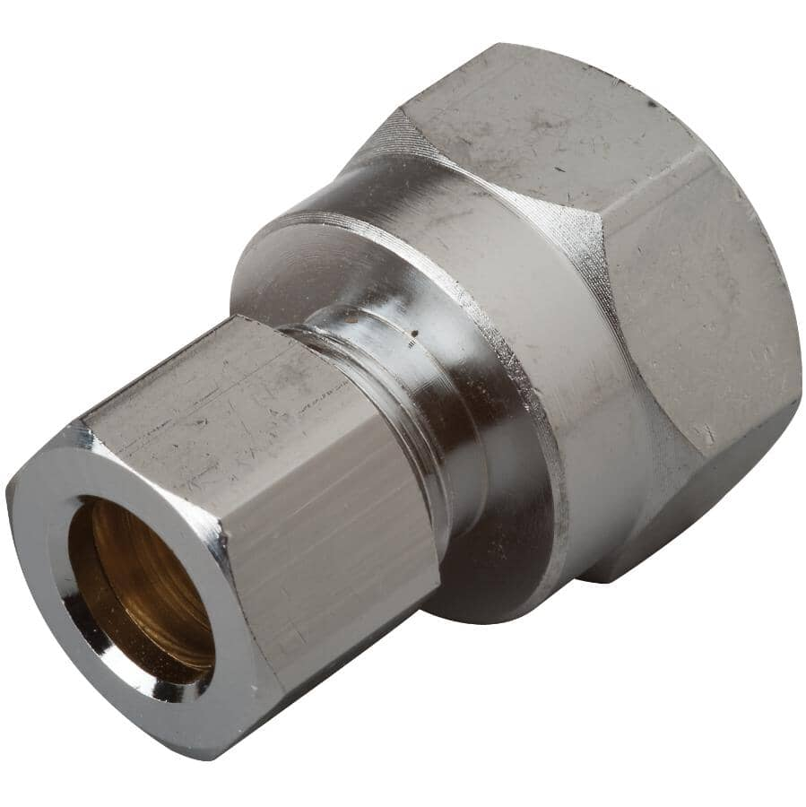 """MOEN:1/2"""" Chrome Plated Brass Straight Female Supply Connector"""