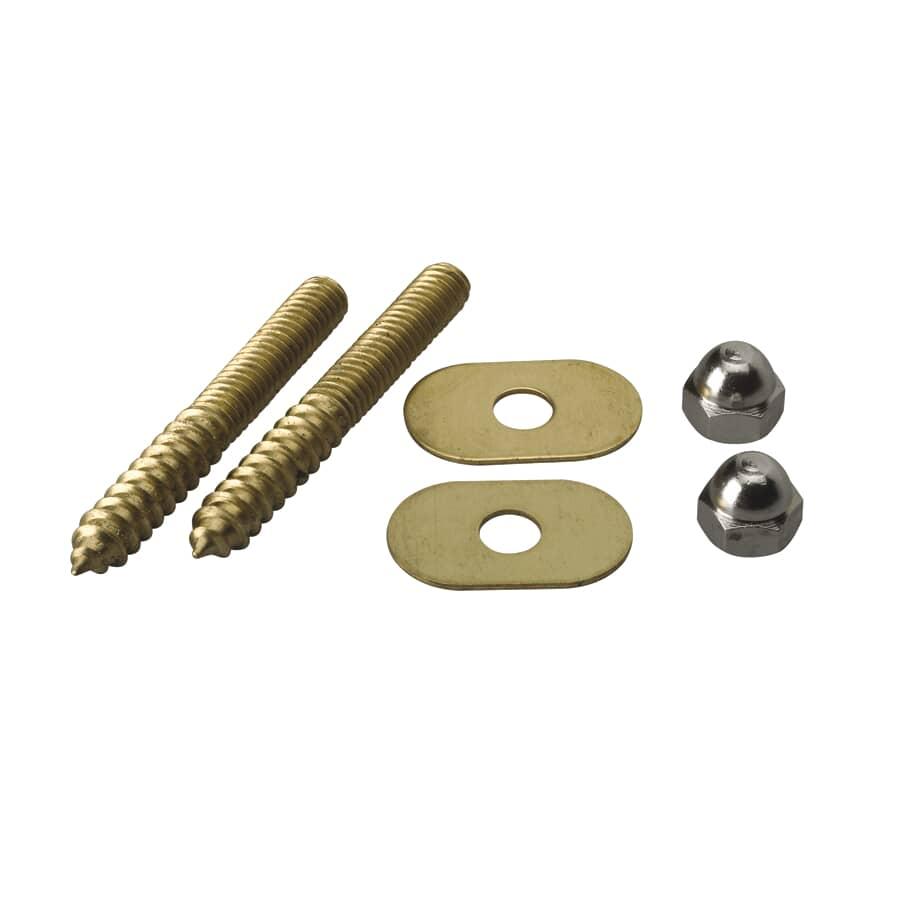 """MOEN:5/16"""" x 2.5"""" Solid Brass Toilet Screw Set"""