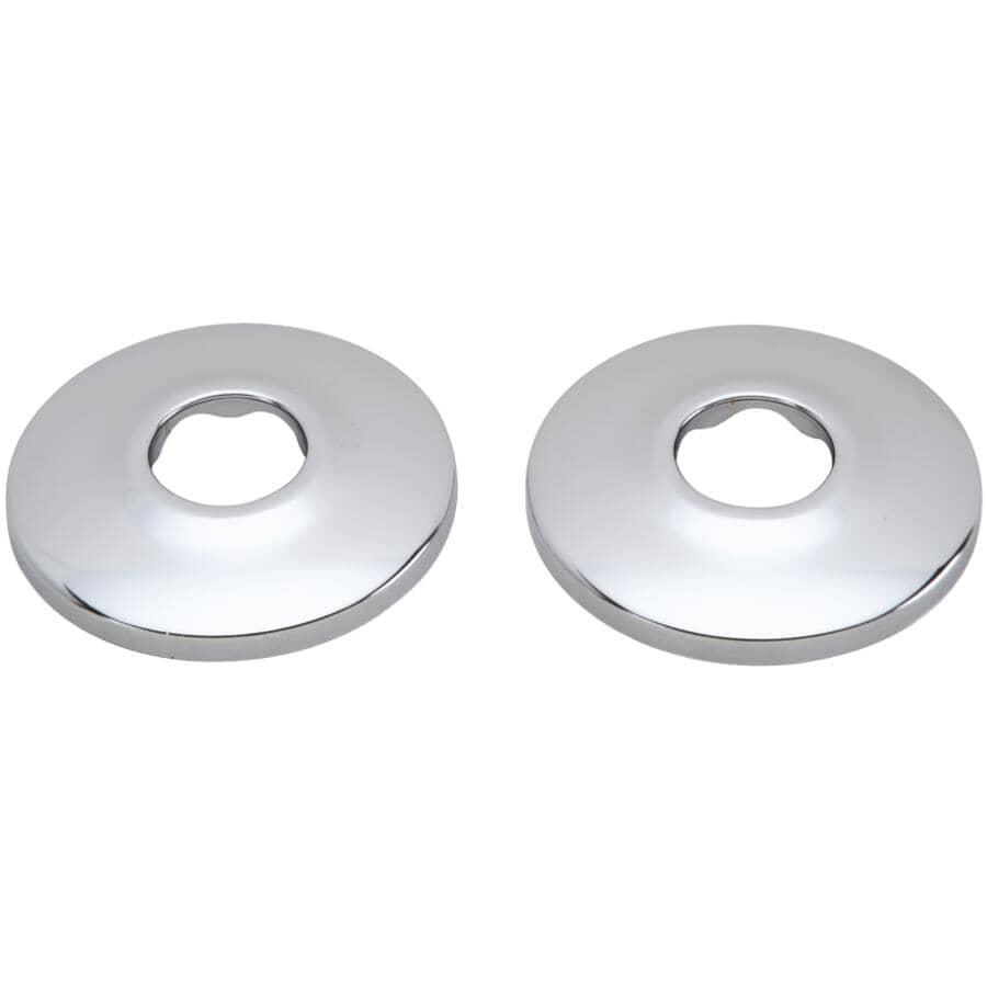 """MOEN:2 Pack 1/2"""" Chrome Plated Steel Tube Flanges"""