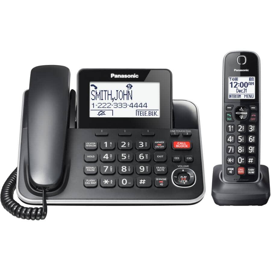 PANASONIC:Corded & Cordless Phones & Answering System (KXTGF870B) - 2 Pack