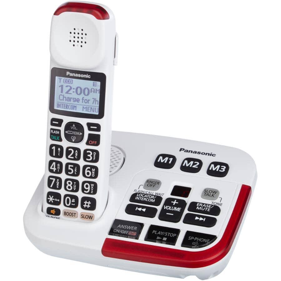 PANASONIC:Téléphone sans fil DECT 6.0 avec répondeur (KXTGM470W)