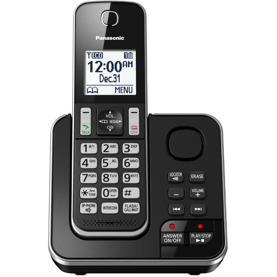 PANASONIC:Téléphone sans fil DECT 6.0 avec répondeur (KXTGD390B)
