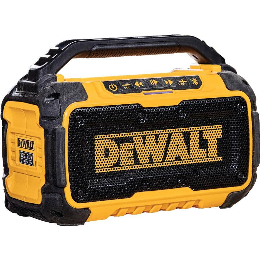 DEWALT:Jobsite Portable Speaker - 12V / 20V, Bluetooth, Aux