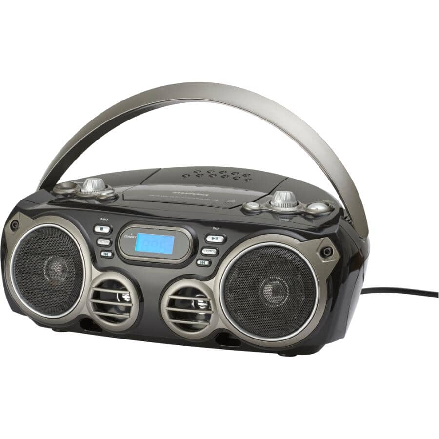 SYLVANIA:Radio portative avec Bluetooth et lecteur CD