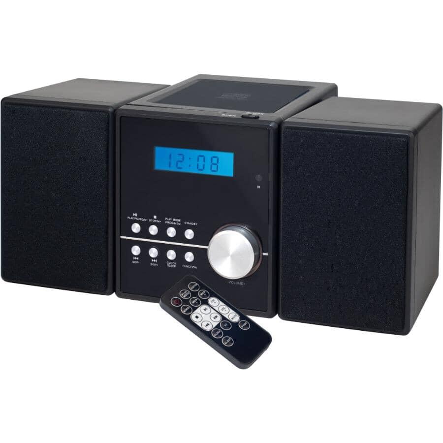 SYLVANIA:Micro chaîne stéréo avec lecteur CD, Bluetooth, AM et FM