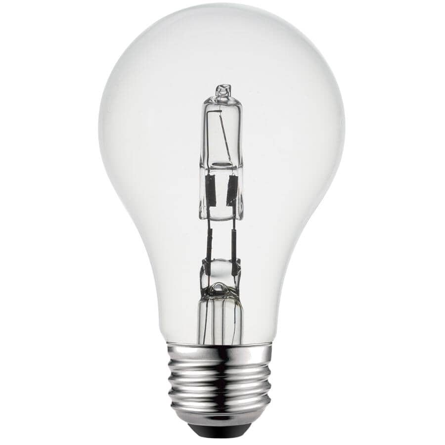 GLOBE ELECTRIC:72W A19 Medium Base Dimmable Halogen Light Bulbs - Soft White, 4 pack