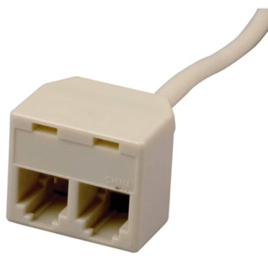 RCA:3.6 m / 12' Modular Duplex Phone Line Cord - White