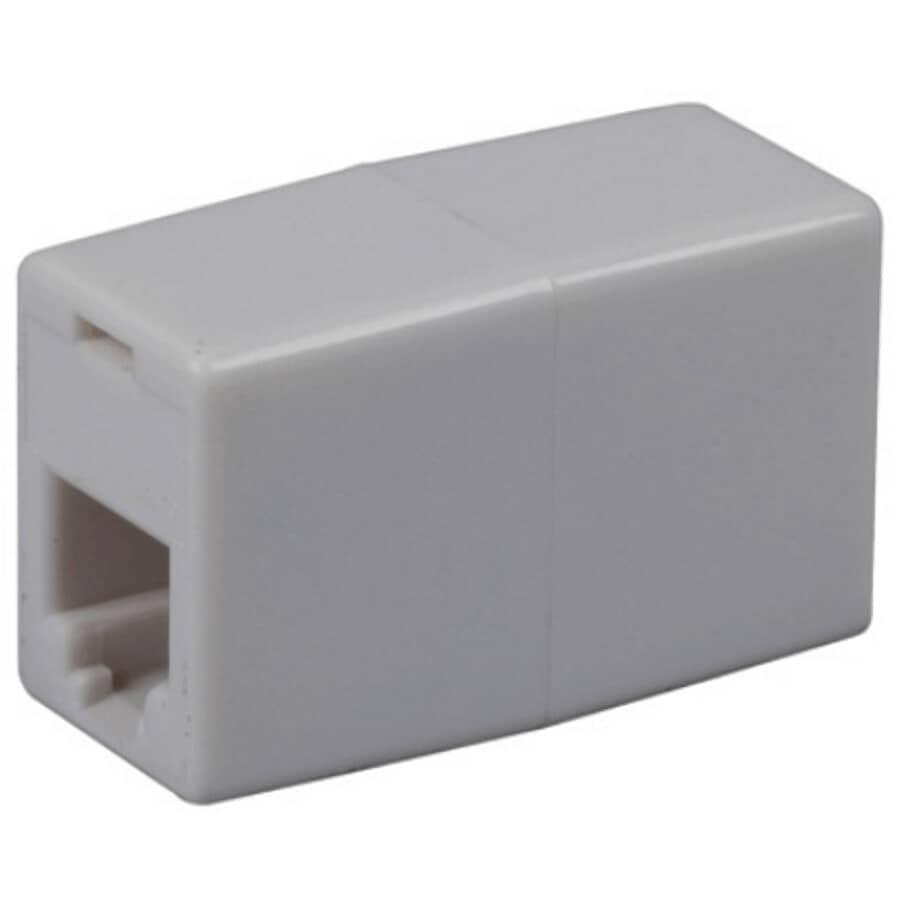 RCA:Inline Phone Cord Coupler - White