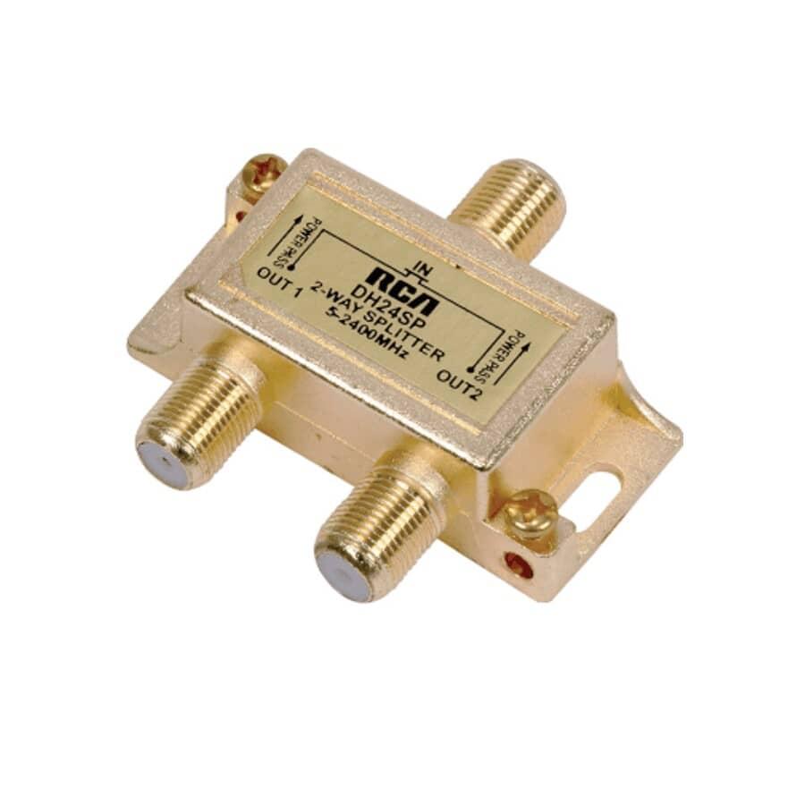 RCA:2-Way Satellite Coaxial Splitter - 2.4 Ghz