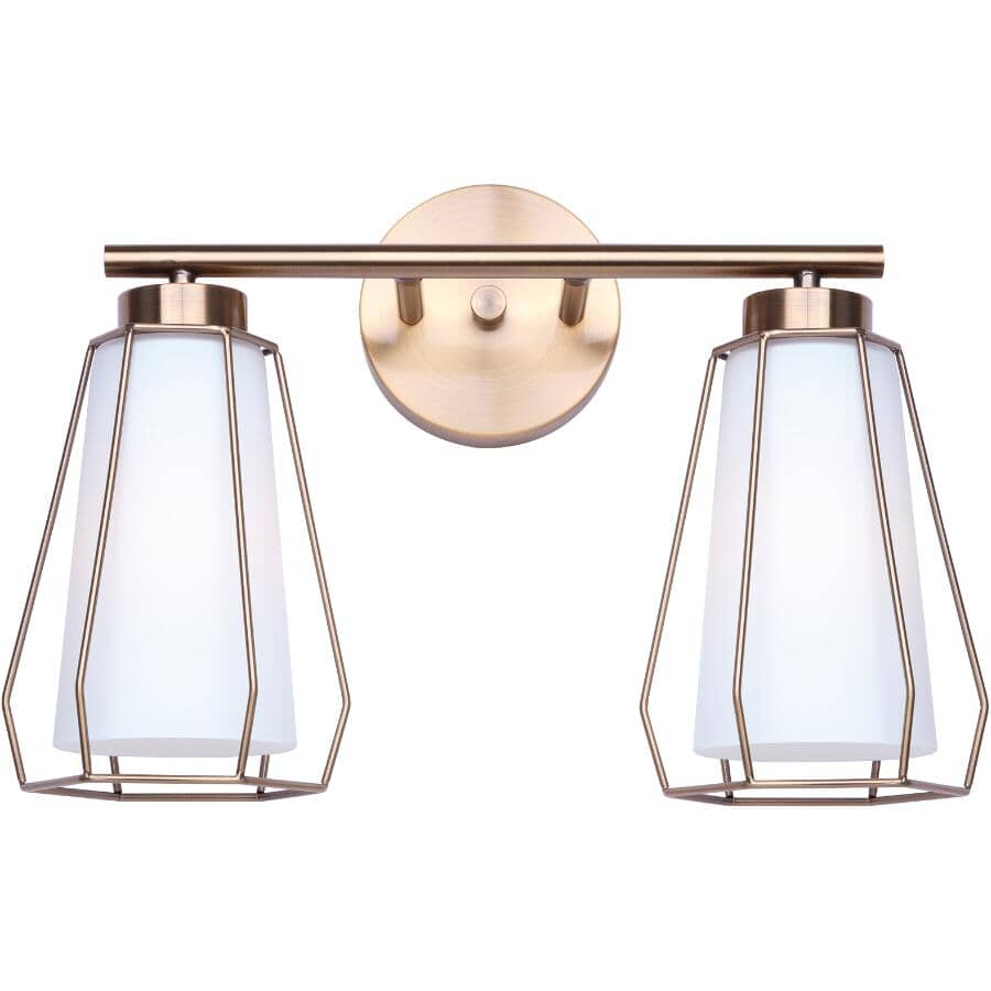 SCOTT MCGILLIVRAY:Newport Vanity Light Fixture - 2 Light, Gold
