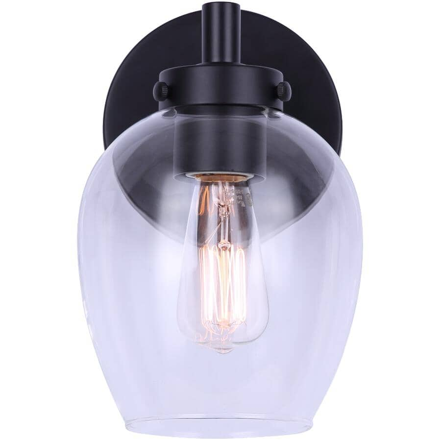 SCOTT MCGILLIVRAY:Weston Vanity Light Fixture - 1 Light, Matte Black